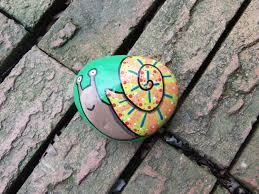 Painted Rocks For Garden by Hand Painted Snail Rock Painted Stone Rock Garden