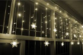 Snowflake Lights Outdoor Room Curtain Lights Decorate The House With Beautiful Curtains