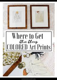Cheap Art Prints by Where To Get Chic Cheap Colored Art Prints Domicile 37