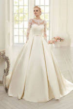 lace boat neck ball gown duchess long sleeve wedding dresses ebay