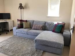 Ikea Corner Sofa by As New Kivik Ikea Corner Sofa With Chaise Lounge In Grey Can