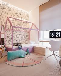a minimalist family home with a bright bedroom for the kids kid