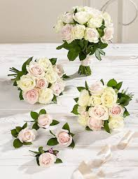 Wedding Bouquets White U0026 Pink Luxury Rose Wedding Flowers Collection 2 M U0026s