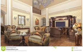 private home project design interior classic style stock