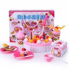 jeu cuisine enfant maison de jeu en plastique alimentaire 73 pcs enfant faux fruits
