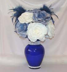 Baby Blue Wedding Decoration Ideas Navy Blue Wedding Centerpiece Bridal Decor Quinceanera Baby