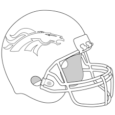 broncos coloring pages denver broncos logo coloring page free