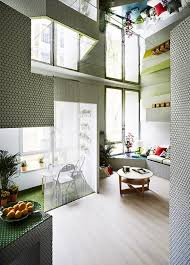 Mirrors On The Ceiling by Tiny Modern Apartment Fully Covered With Mosaic Tiles Digsdigs