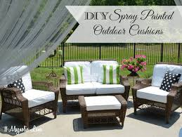 painted fabric outdoor cushions using a paint sprayer paint