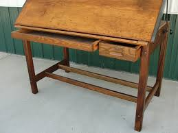 Antique Wooden Drafting Table Vintage Industrial Hamilton Drafting Table Kitchen Island From