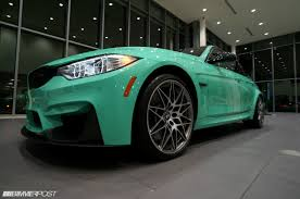 green bmw mint green f80 bmw m3 with m performance parts is up for grabs in