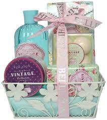 Bath Gift Basket Gloss Vintage Rose Bath Gift Set 10 Piece Amazon Co Uk Beauty