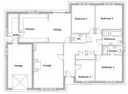 four bedroom floor plans 4 bedroom floor plans beautiful four bedroom house plan 4
