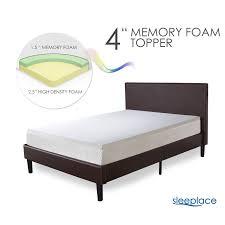 4 Inch Foam Mattress Topper King Mattress Topper Sleeplace 4 Inch Premium Bed Topper 2