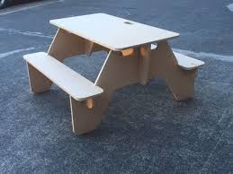 make a flat pack picnic table that you can always bring with you