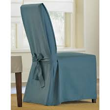 turquoise chair slipcover sure fit cotton duck dining chair slipcover