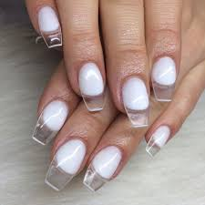 clear tip nails nail nailart nails pinterest nail nail