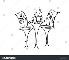 french cafe table retro clip art stock vector 59040007 shutterstock