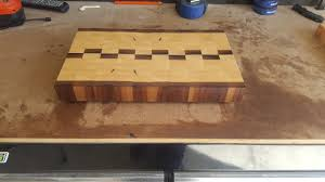 beautiful new handcrafted maple and walnut butcher block cutting