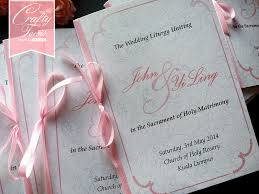 wedding program booklets wedding card malaysia crafty farms handmade soft pink peonies