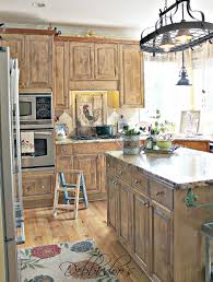 inspiring brown wooden color country kitchen cabinets features