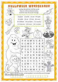 Halloween Activity Sheets And Printables Halloween Wordsearch Worksheet Free Esl Printable Worksheets