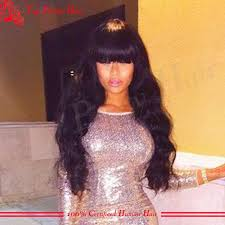 body wave hair with bangs the 25 best wigs with bangs ideas on pinterest black hair wigs