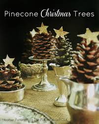 collection of simple pine cone christmas tree ornaments all can