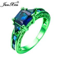 green wedding rings aliexpress buy junxin blue geometric ring green