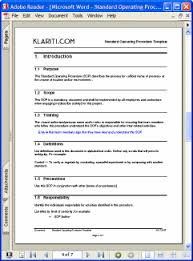how to write standard operating procedures free standard