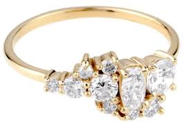 cluster rings custom cluster ring with oval and heirloom diamonds bario neal