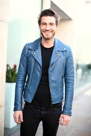 mens black leather motorcycle jacket blue leather biker jacket acne my style pinterest leather