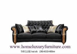 Wooden Frame Sofa Set Leather Sofa Classical Sofa Sets Black Leather Sofas Wooden Living