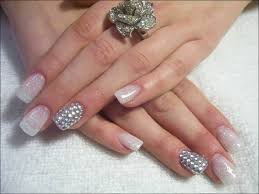 white pearls for women 3d nail art general glitter nail