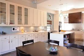 Waterfall Glass Tile Kitchen With Waterfall Countertop By Edict Inc Zillow Digs Zillow