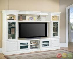 Tv Wall Units For Living Room Hartford 4 Piece Traditional Vintage White Wall Unit Tv