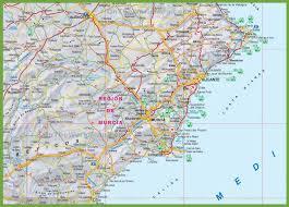 Spain Regions Map by Region Of Murcia Tourist Map