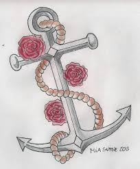 anchor and roses by mollymalou on deviantart