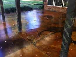 Brushed Concrete Patio How To Acid Staining A Patio Directcolors Com