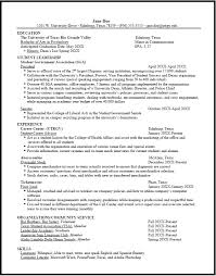 Sample Resume For On Campus Job by Utrgv Cover Letter