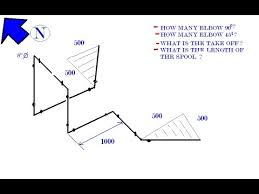 isometric drawing orientation northing bending 6 with computation