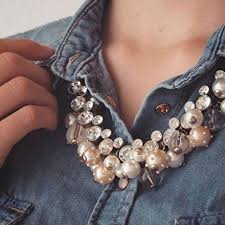 chunky pearl fashion necklace images How to style pearl jewelry jpg