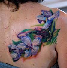 blue orchid flower tattoo phil garcia the best flower tattoos