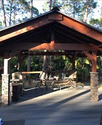 backyard pavilion design with columns creative faux panels