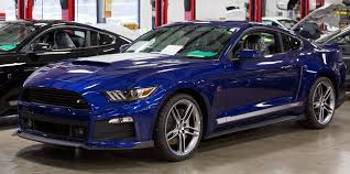 deep impact blue ford mustang car autos gallery