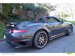 2016 dark grey paint to sample porsche 911 turbo s cabriolet