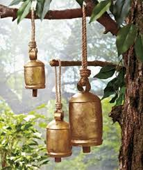 new home yard patio decor set of 3 iron harmony bells hanging