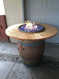 wine barrel fire table barrel fire pit tecnocrea info