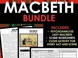 macbeth cloze word fill worksheets for every act and scene of