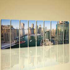 oversized wall art print cityscape dubai picture modern canvas wall art large home decor